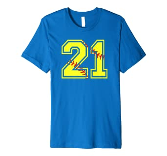 Image Unavailable Not Available For Color Softball Number 21 Birthday Shirt