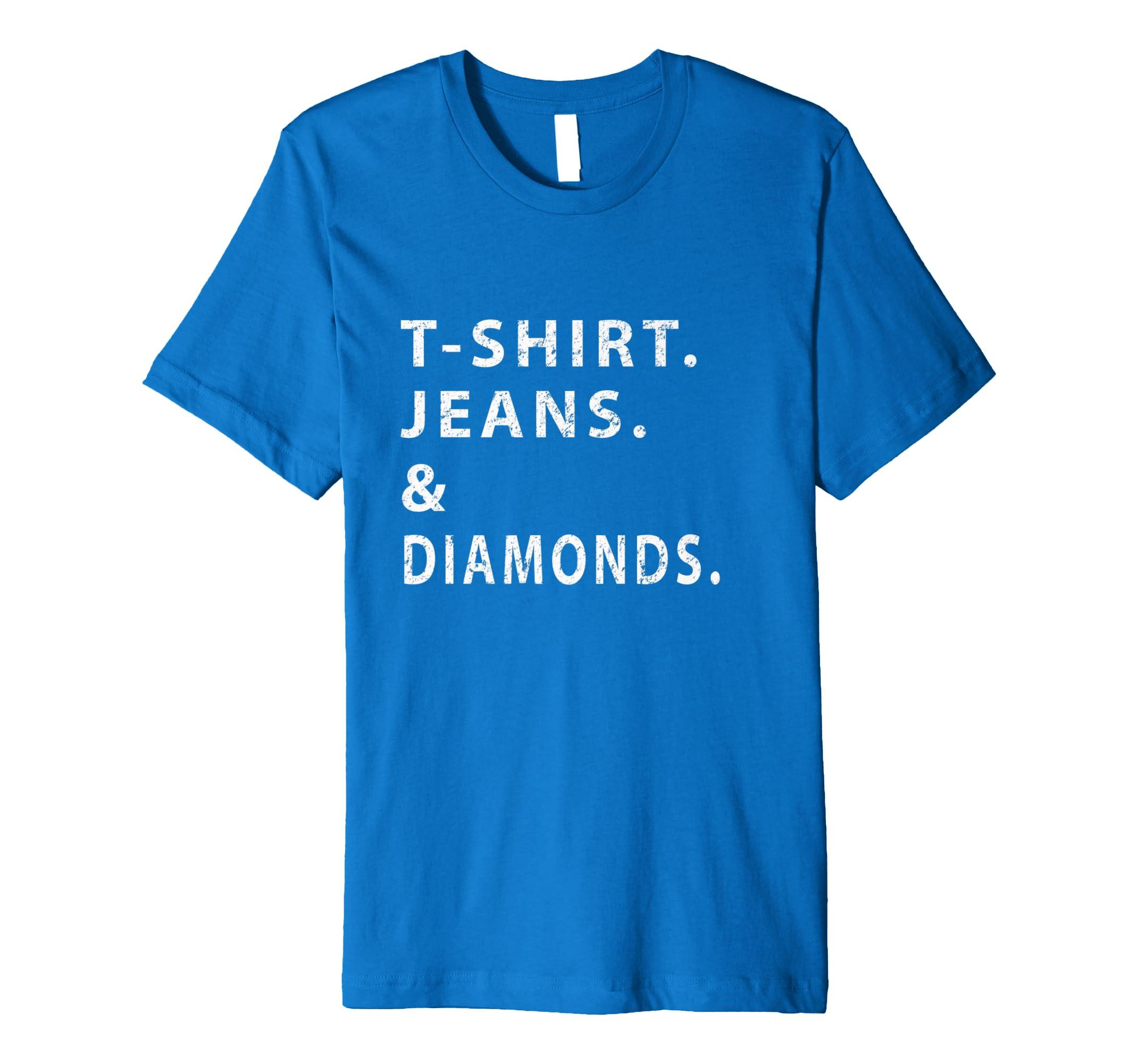 e61d846d56 Amazon.com: T-Shirt. Jeans. Diamonds Shirt. Women's Celebrity ...