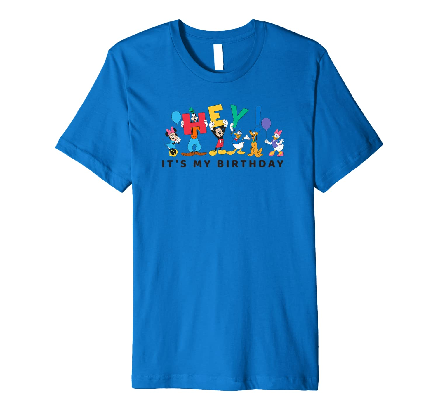 Disney Mickey And Friends Hey Its My Birthday T Shirt Amazoncouk Clothing