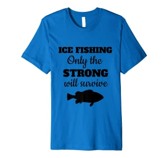 ceca68e1d Image Unavailable. Image not available for. Color: Ice Ice Fishing  Fisherman Angler Bass Walleye Funny T Shirt