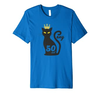 Black Cat 50 And Sexy 50th Birthday Gift T Shirt