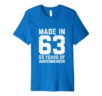 55th Birthday Shirt Gift Women 55 Years Old Mom 1963 Tshirt Amazon