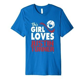 huge selection of 892fe 54015 Justin Turner This Girl Loves T-Shirt - Apparel