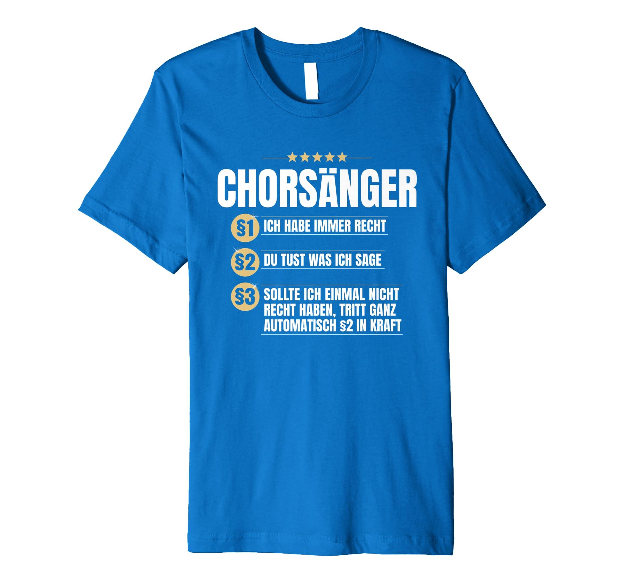 Chorsanger Geschenk Chor Singen Gesang Lustiges Beruf Shirt Amazon