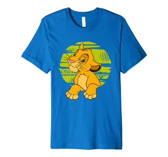 9bfb764c Disney The Lion King Young Simba Paws Green 90s T-Shirt: Amazon.co.uk:  Clothing