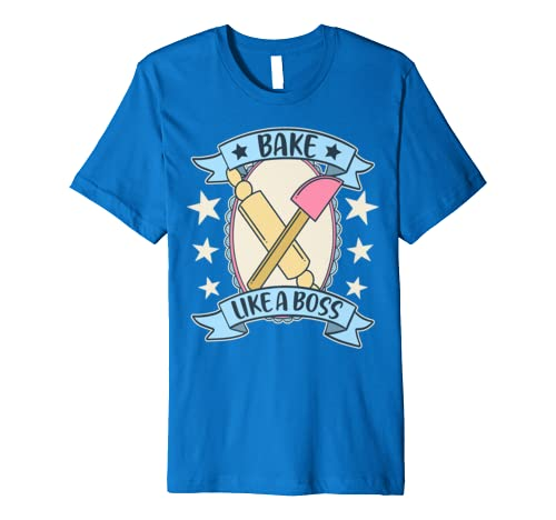 Bake Like A Boss Vintage Retro Baking Gift Premium T-Shirt