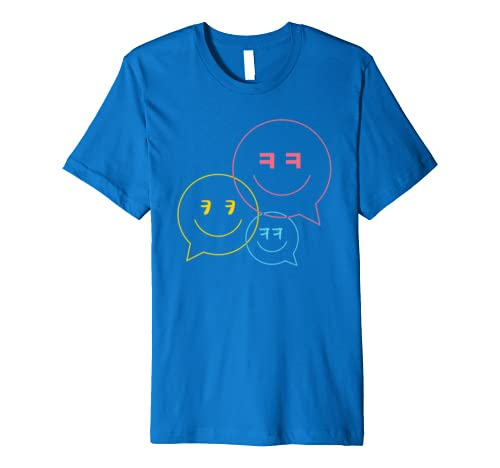 cea01ddf Amazon.com: The kkk Korean Laughing Emoticon SMILEY T-shirt with hangul:  Clothing