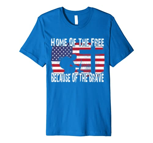 Home Of The Free Patriotic American Flag T-Shirt