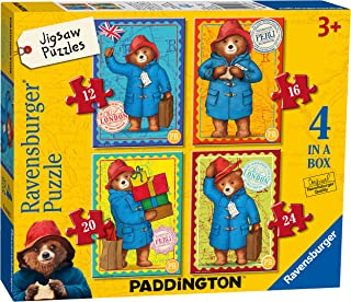 Ravensburger Paddington - 4 in Box (12, 16, 20, 24 Piece) Jigsaw Puzzles for Kids age 3 years and Up