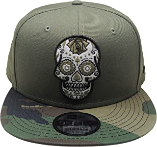 Sugar Skull New Era Custom 9Fifty Snapback Hat - Olive, Camo, Black
