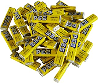 Pez Candy Single Flavor 1 Lb Bulk Bag (Lemon) Yellow Candy