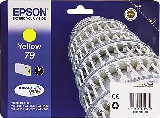 Epson Original T79 Tintenpatrone Pisa, WF 4630DWF WF 4640DTWF WF 5110DW WF 5190DW WF 5620DWF WF 5690DWF WF 5190DW WF 5690DWF, (gelb)
