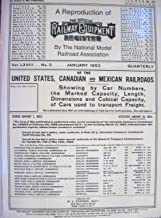 A Reproduction of 'The Official Railway Equipment Register January 1953 of the USA, Canadian & Mexican Railroads