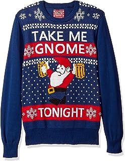 Hybrid Men's Take Me Gnome Tonight Ugly Christmas Sweater