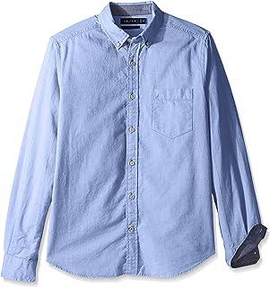 Nautica mens Long Sleeve Button Down Solid Oxford Shirt Button Down Shirt