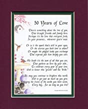 Genie's Poems 50 Years of Love, 119, Poem Gift Present for A 50th Wedding Anniversary