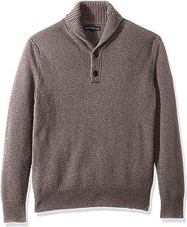 J.Crew Mercantile Men's Lambswool-Nylon Shawl Collar Sweater, Heather