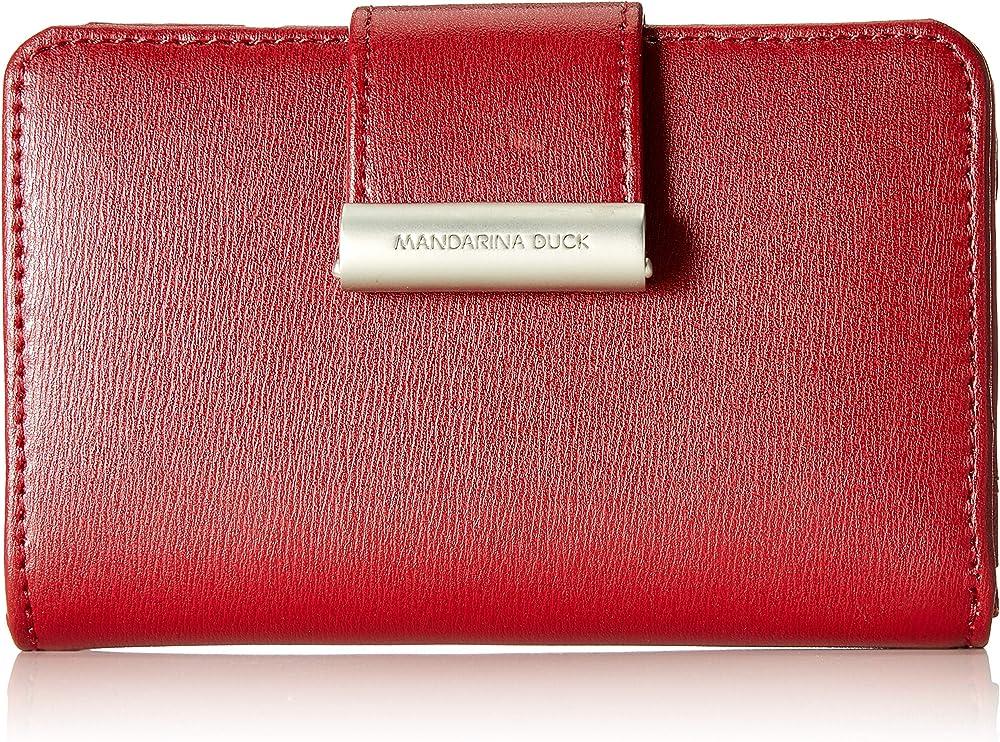 Mandarina duck hera 3.0 , portafoglio per donna , in vera pelle P10RAP15