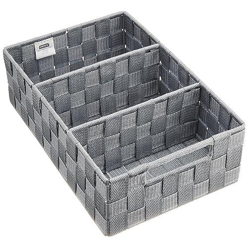 Genial Wenko 21532100 Adria Boîte De Rangement Salle De Bain Avec Poignée Gris  Dimensions 32,0