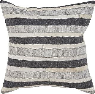 "L.R. Resources PILLO07331CBIFFPL Throw Pillow, 20"" x 20"", Charcoal/Beige"