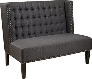 Pulaski , Anthracite Grey Upholstered Entryway Bench, 52.0