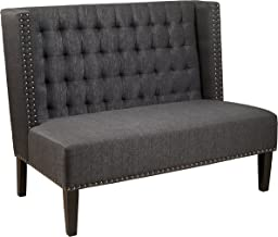 Pulaski DS-2185-400, Anthracite Grey Upholstered Entryway Bench, 52.0