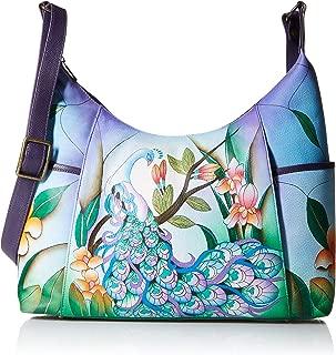 Anna by Anuschka Women's Genuine Leather Large Hobo Handbag | Zip-Top Organizer