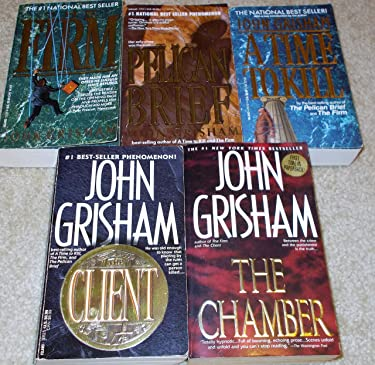 John Grisham 5 Book Set ( A Time to Kill, The Firm, The Pelican Brief, The Client, The Chamber)