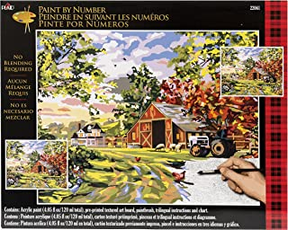 Plaid Creates Plaid Paint by Number Kit, Old Farm House, 22061, Size 16 20-Inch
