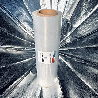 Shrink Wrap Plastic Clear Roll - 18 inch x 1700ft x 80 Gauge(21 Micron), 1 Pack, Industrial Heavy Duty Stretch Film Shipping, Moving, Packing, Furniture wrap, Pallet Storage Supplies, PACK of AMERICA