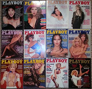 Playboy Magazine 1985 Lot Entire Year 12 Issues January Through December