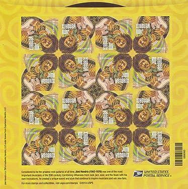"2014 Sheet of 16 ""Jimi Hendrix"" Forever U.S. Postal Stamps"