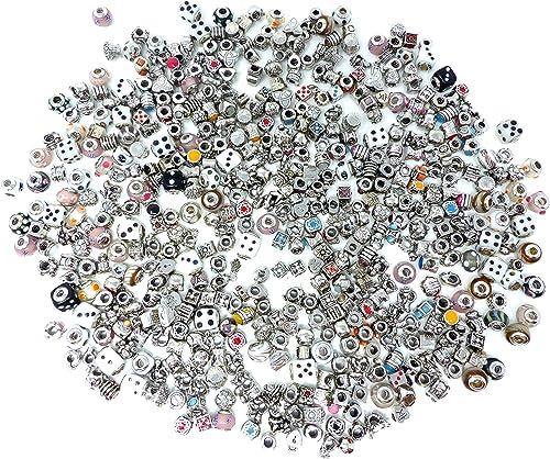 100 tolle Beads bunt gemischt Gesch saufl ng Glas Silber Strass
