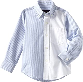 Wes and Willy Little Boys' Colorblock Oxford Shirt