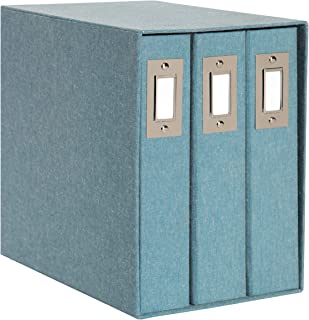 DesignOvation Cydney Set of 3 Fabric Albums in Display Box, Holds 4x6 or 5x7 Photos, 200, Teal, 3 Count