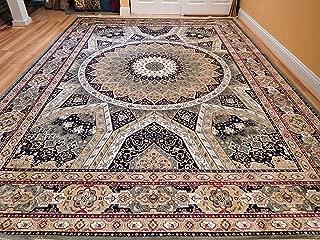 Stunning Persian Silk Rug 2x8 Hallway Runner Traditional Runners for Long Hallways 2x7 Green Silk Persian Qom Style Carpet