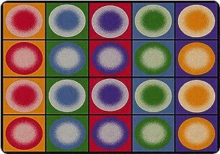 Flagship Carpets FE118-32A Dot Spots Rug (Seats 20), Children's Classroom Seating Rug, 5'10