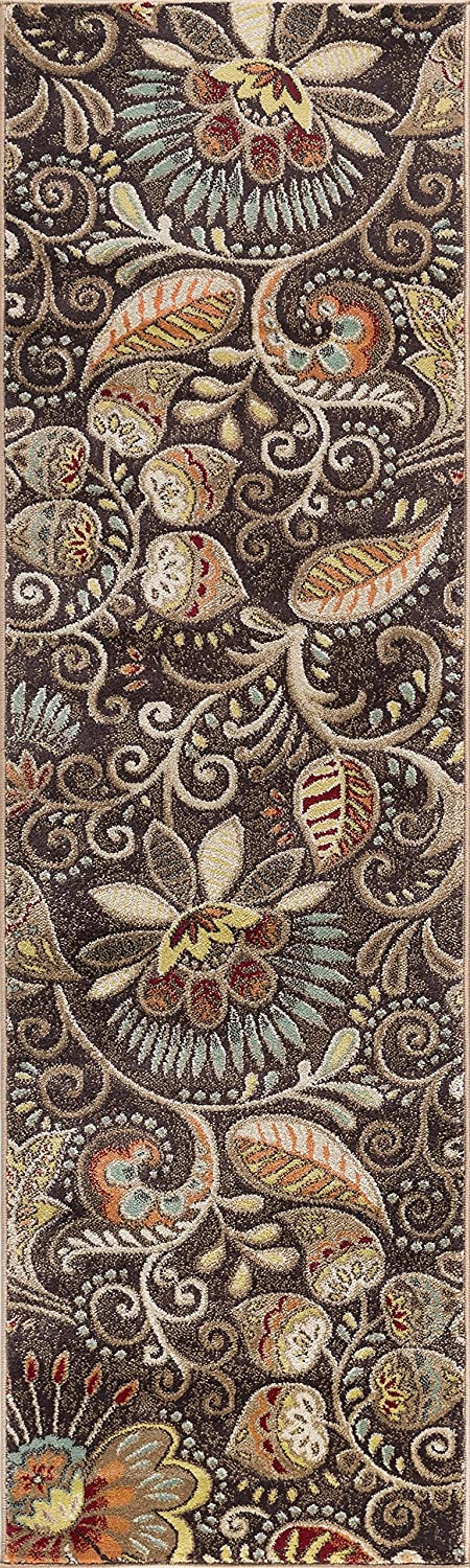 Giselle Contemporary Abstract Brown Runner 2' Challenge the lowest price of Japan ☆ x 10' Rug Mail order cheap
