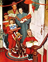 Olde Time Mercantile Merry Christmas 1950 Art Print Norman Rockwell Print - 8 in x 10 in - Matted to 11 in x 14 in - Mat Colors Vary