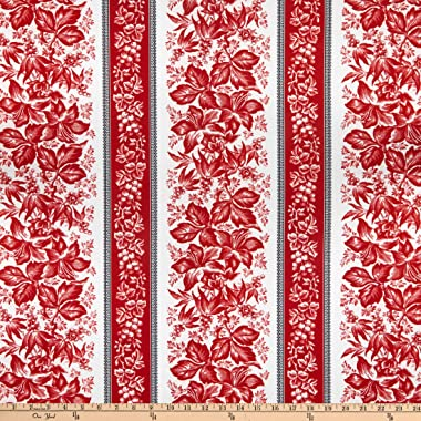 Windham Scarlett Lily Stripe Linen Quilt Fabric By The Yard