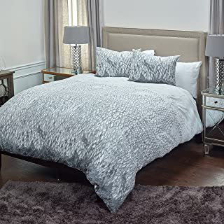 Rizzy Home Cotton Duvet Cover Set, DFSBT4220WHGY1498, White, King