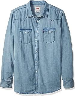 Men's Big and Tall Standard Denim Western Shirt