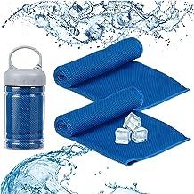 Relaxdays verkoelende handdoek, 2 stuks, microvezels, koeldoek, sport & fitness, sporthanddoek, 90 x 30 cm, kleurkeuze