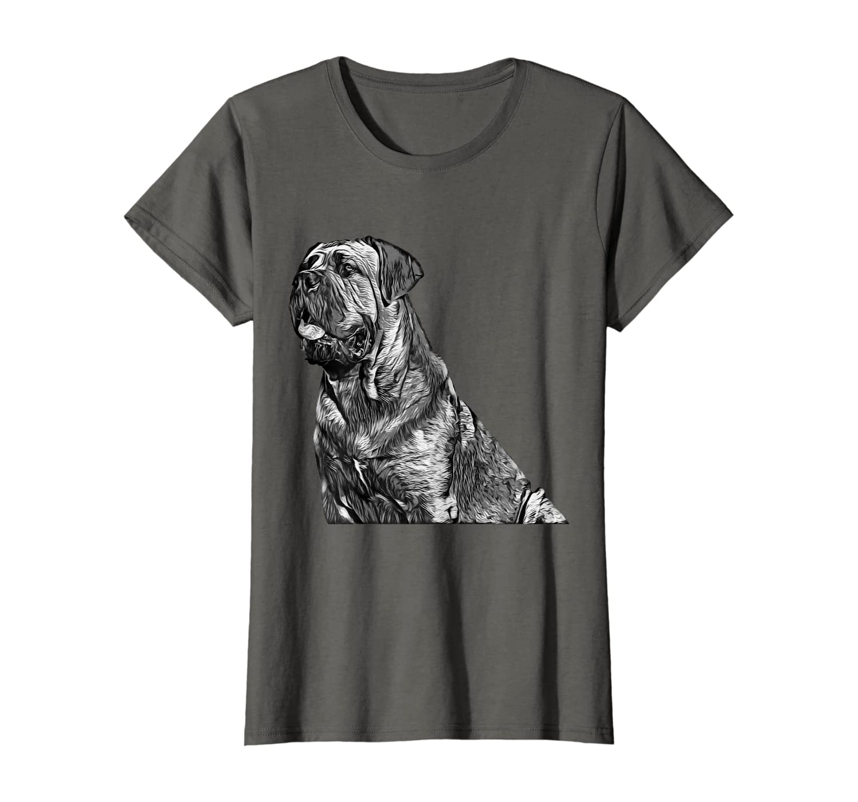 Black And White Cane Corso Mastiff Dog T-Shirt