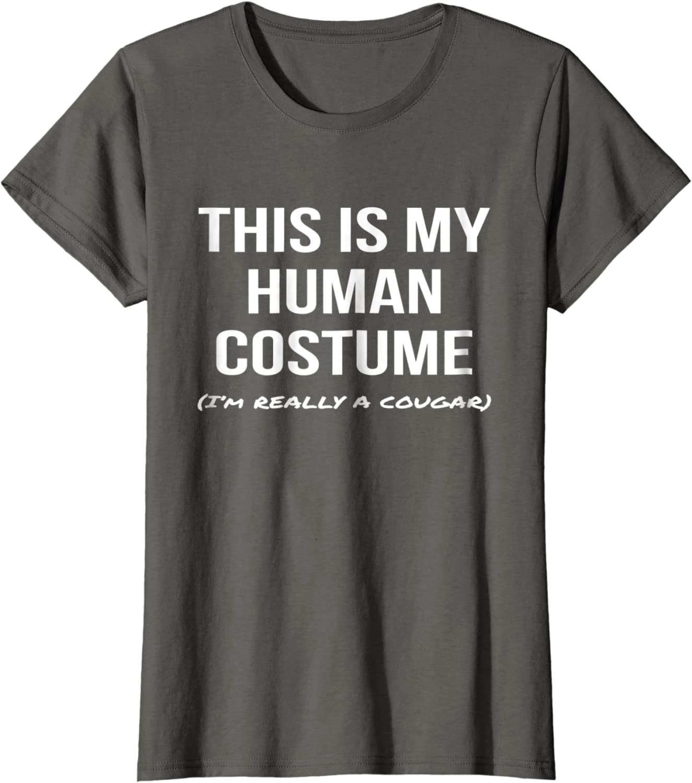 Human Costume Im Really a Cougar Shirt Cosplay Tee