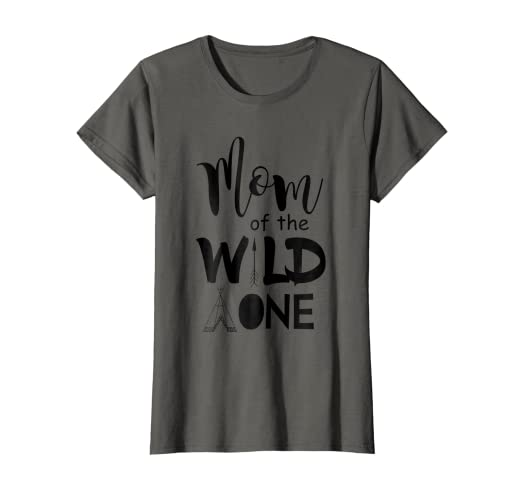 e473ba41 Image Unavailable. Image not available for. Color: Womens Dad Mom King  Queen Wild One Cute 1st Birthday Boho Shirt