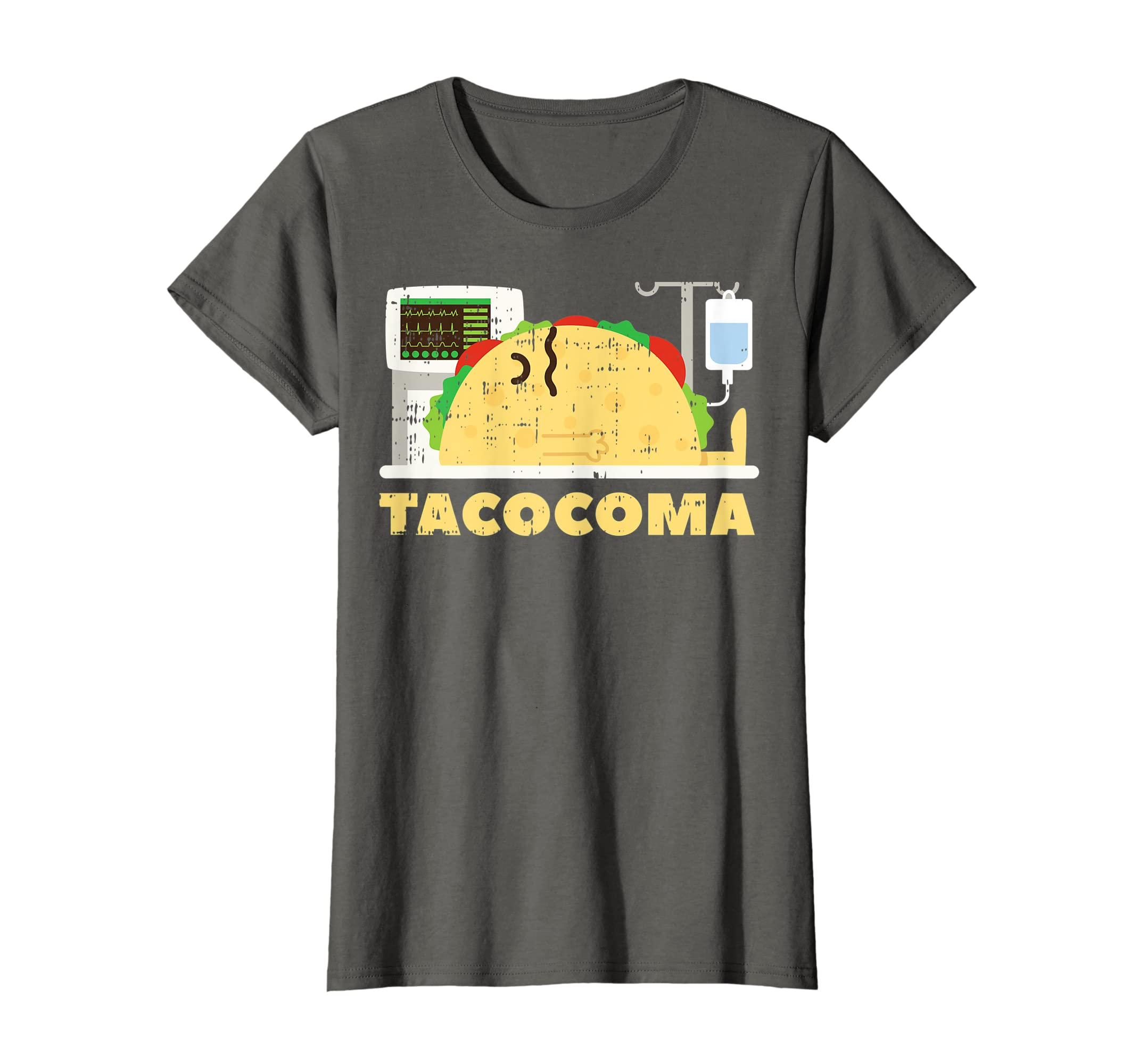 38d33a81b Amazon.com: Tacocoma Taco Coma Funny Mexican Cinco De Mayo Shirt T-Shirt:  Clothing
