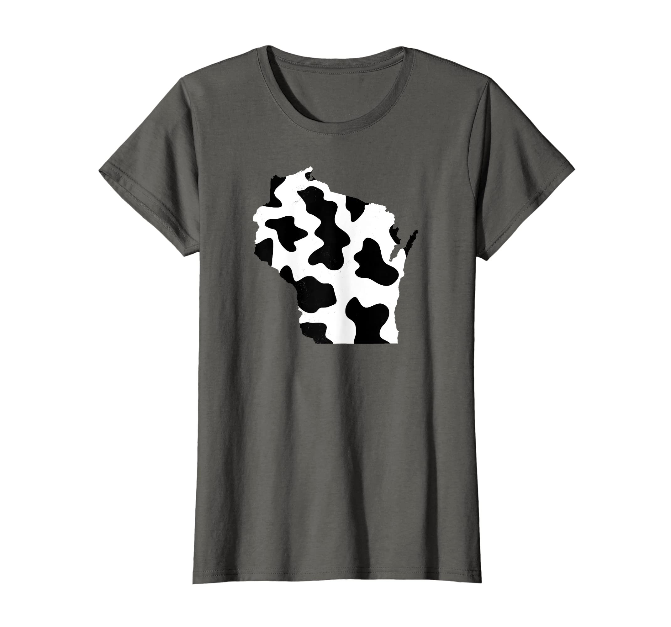 Amazon Cool Vintage Home Wisconsin State Cow Print T Shirt