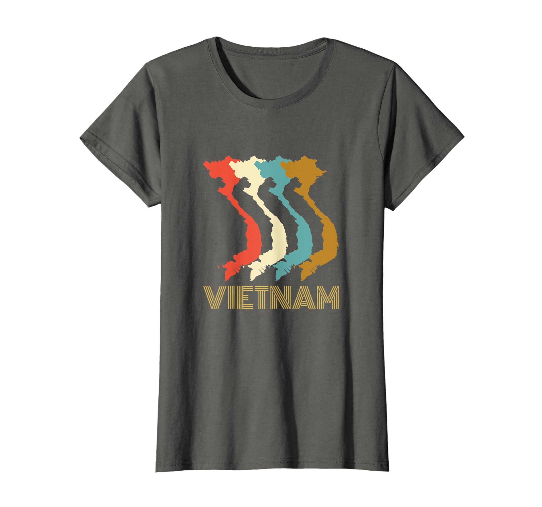 Amazon Com Vintage Vietnam T Shirt I Love Vietnam Map Shirt Clothing