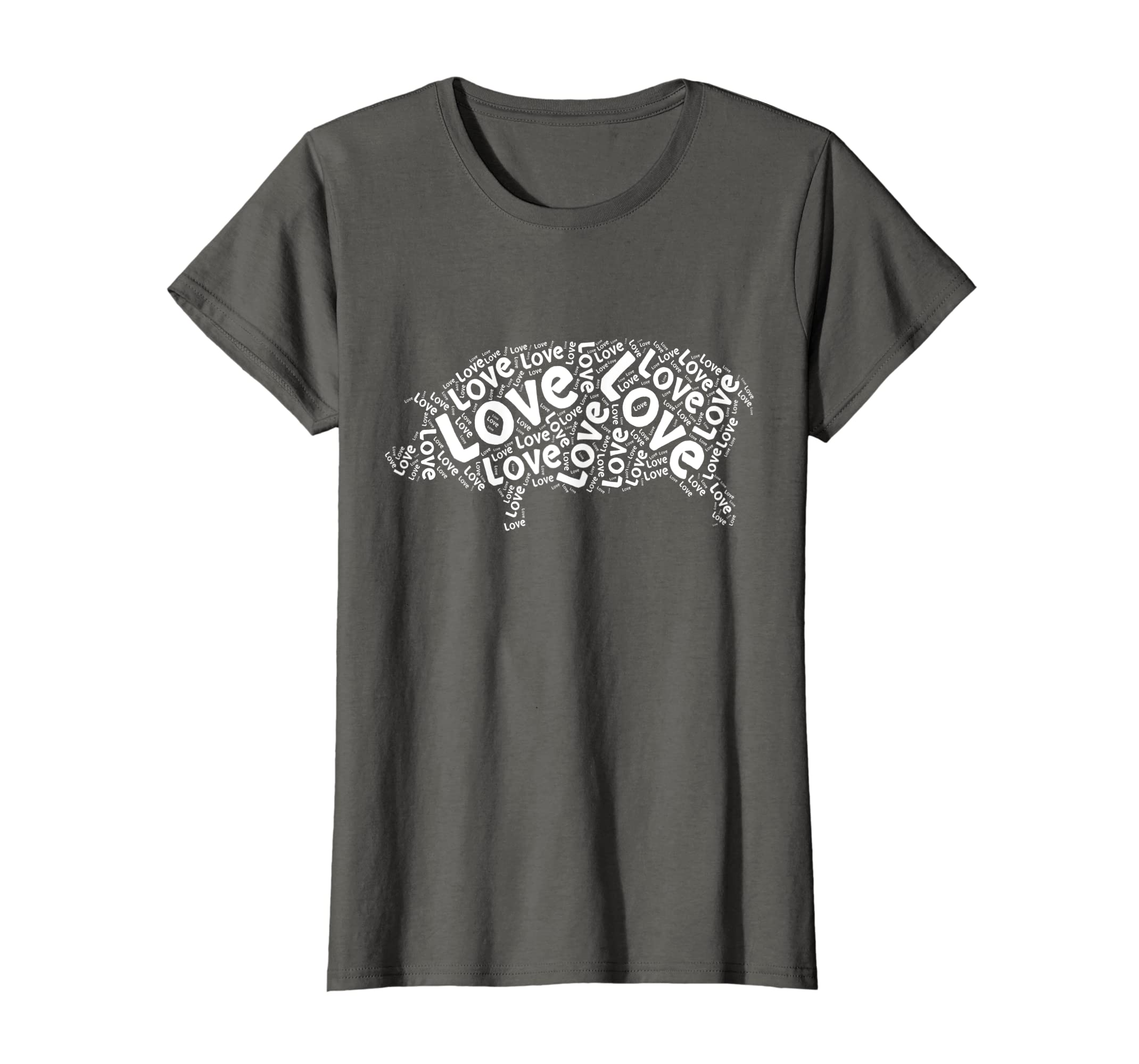 dba1f2b8 Amazon.com: Love Pig Shirt, I Love Pigs T-Shirt Word Cloud Graphic Tee:  Clothing